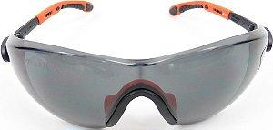 Oculos Delta Plus Fuji Gradient Preto/Laranja Lente Fume
