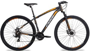 Bicicleta Aro 29 Oggi Hacker Sport Preto/Laranja