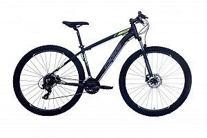 Bicicleta Aro 29 Oggi Hacker HDS (*) Preto/Verde/Graf