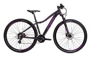 Bicicleta Aro 29 Oggi Float 5.0 2020 Preta e Uva