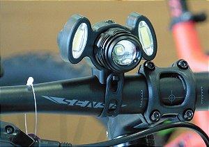 Farol 200 Lumens Triplo PTK 2 Cob Led Rotation Zoom