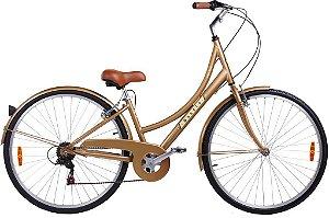 Bicicleta Aro 700 Mobele Mobelinha Dourada