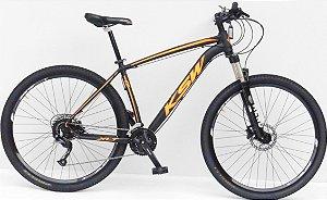 Bicicleta Aro 29 Usada KSW XLT 27V T19 Preto/Laranja