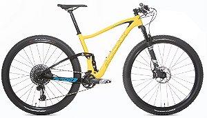 Bicicleta Aro 29 Audax FS900 GX Full (2020) Amarelo/Azul/Pre
