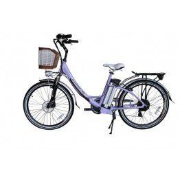 Bicicleta Aro 26 Magias Italiane July Lilas (2020) Eletrica Litio