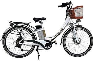 Bicicleta Aro 26 Magias Italiane July Branca (2020) Eletrica Litio