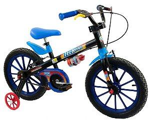 Bicicleta Aro 16 Nathor Tech Boys Preto/Azul