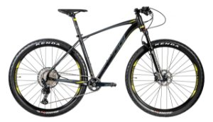 Bicicleta Aro 29 Oggi Big Wheel 7.4 (2020) Preto/Amarelo/Grafite