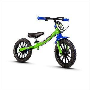 Bicicleta Aro 12 Balance Nathor Masculina Verde Preto Azul 80292