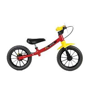 Bicicleta Aro 12 Balance Nathor Fast Vermelho/Amarelo/Preto 100900160006