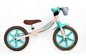 Bicicleta Aro 12 Balance Nathor Love Bege/Verde