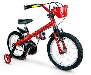 Bicicleta Aro 16 Nathor Lady Aro Aluminio Vermelho