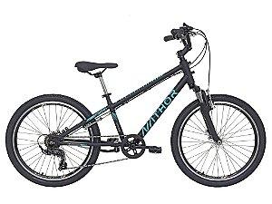 Bicicleta Aro 24 Nathor Apollo Preto e Verde