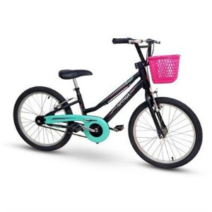 Bicicleta Aro 20 Nathor Grace Aro Aluminio Preto/Verde/Rosa