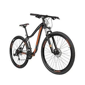 Bicicleta Aro 29 Caloi Kaiena Sport (2019) Preto/Laranja