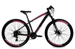 Bicicleta Aro 29 Redstone Nitro 24V Preto/Rosa