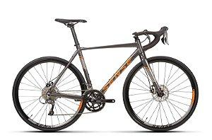 Bicicleta Aro 700 Sense Speed Criterium Comp (2020) Cinza/Laranja