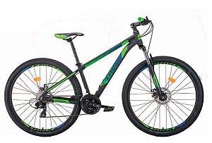 Bicicleta Aro 29 Trinx M100 Pro/Max 24V Preto/Verde/Azul