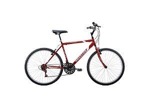 Bicicleta 26 Houston Foxer Hammer 21V Vermelho