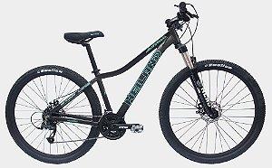 Bicicleta Aro 29 Heiland Atria 21V Cinza/Turquesa