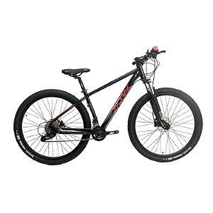Bicicleta Aro 29 Dvorak 18V Hidraulico Preto/Vermelho