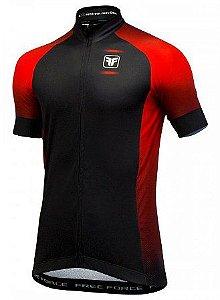 Camisa Free Force Horizon Preto Vermelho