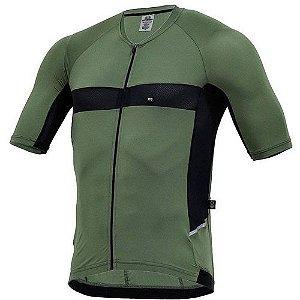 Camisa Marcio May Masculina Ellegance Verde Militar/Preto