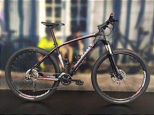 Bicicleta Aro 29 Usada Vicinitech XC Carbon 20V T19 Preto/Branco/Vermelho Cli.: 943