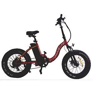 Bicicleta Dobravel Eletrica Rimini Magias Vermelho
