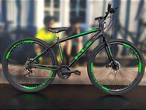 Bicicleta Aro 29 Usada KLS V21 Preto/Verde