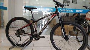 Bicicleta Aro 29 Vivatec Agile 20V T15 Preto/Prata/Vermelho