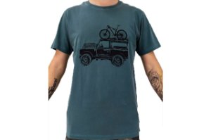 Camisa Casual Landmark Bike Jeep Verde Escuro