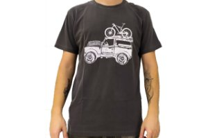 Camisa Casual Landmark Bike Jeep Chumbo