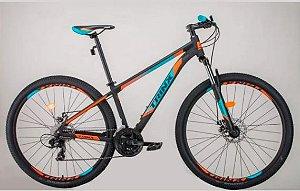 Bicicleta Aro 29 Trinx M100 Pro/Max 24V Preto/Verde/Laranja