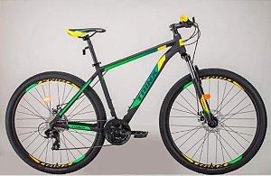 Bicicleta Aro 29 Trinx M100 Pro/Max 24V Preto/Verde/Amarelo