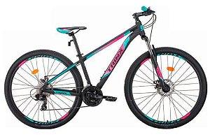 Bicicleta Aro 29 Trinx M100 Pro/Max 24V Preto/Rosa/Verde