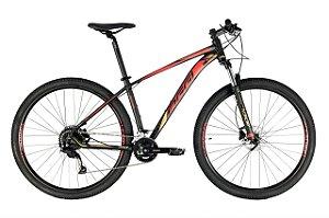 Bicicleta Aro 29 Oggi Big Wheel 7.0 (2021) Preto/Dourado/Vermelho