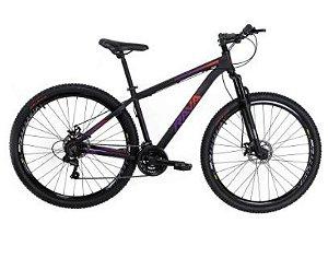 Bicicleta Aro 29 Tsw Rava Pressure 27 Preto/Verm/Violeta