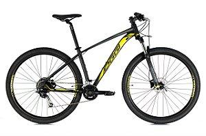 Bicicleta Aro 29 Oggi Big Wheel 7.1 (2021) Preto/Amarelo/Grafite