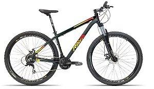 Bicicleta Aro 29 Tsw Rava Pressure Preto/Vermelho/Amarelo 24V Mecanico