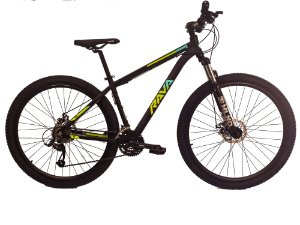 Bicicleta Aro 29 Tsw Rava Pressure 24V Preto/Verde/Azul Mecanico