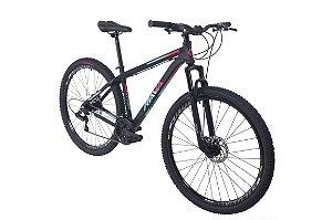Bicicleta Aro 29 Tsw Rava Pressure Preto/Pink/Azul 24V Mecanico