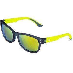 Oculos ABS After Armacao Verde Lente Marrom Espelhado 44379