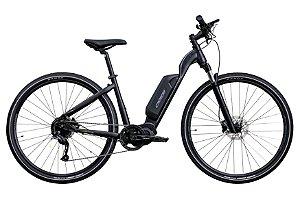 Bicicleta Aro 700 Eletrica Oggi Flex Steps 9V (2021) Preto/Cinza T16.5