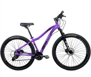 Bicicleta Aro 29 Sky 24V (F) Lilas/Preto Hidraulico