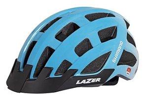 Capacete Lazer Road Blade (M) Preto Fosco/Azul