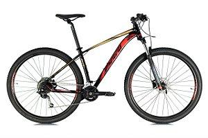 Bicicleta Aro 29 Oggi Big Wheel 7.1 (2021) Preto/Vermelho/Dourado