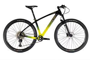 Oggi Agile Sport Deore Carbono (2021) Preto/Amarelo