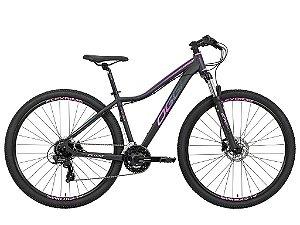 Bicicleta Aro 29 Oggi Float 5.0 (2021) 24V Preta/Pink/Azul