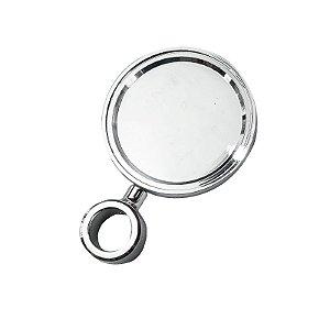 Medalhão metálico avulso cromado